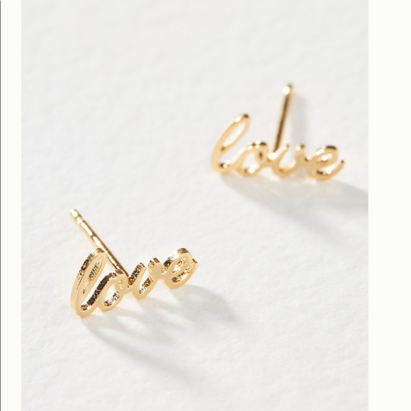 NWT Anthropologie Sweet Sentiments Post Earrings